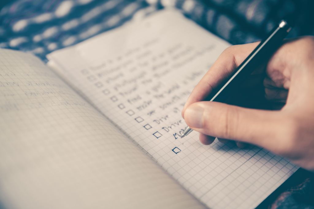 plan goal checklist